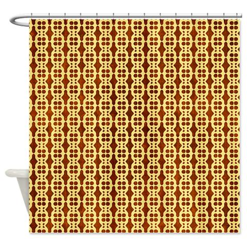 Abstract 42 Shower Curtain