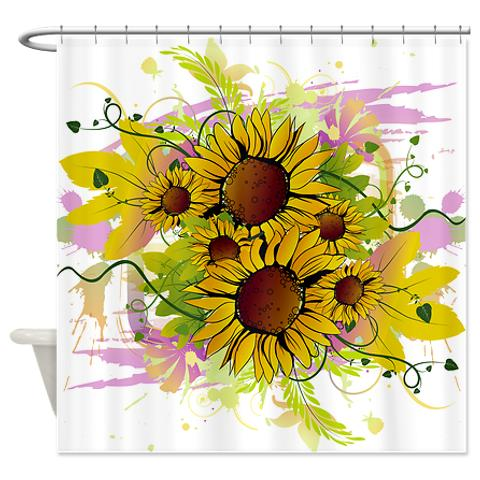 abstract_sunflower_splash_shower_curtain.jpg