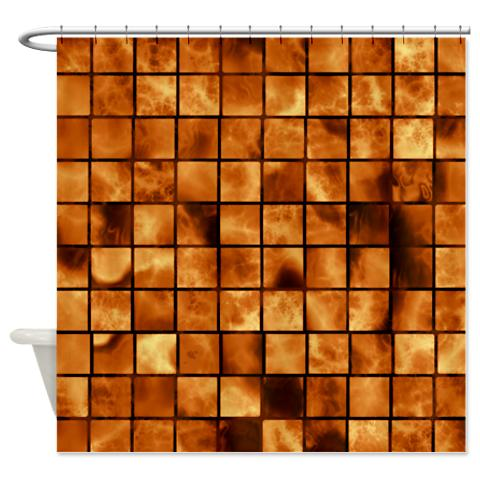 amber_brown_marble_tiles_shower_curtain.jpg