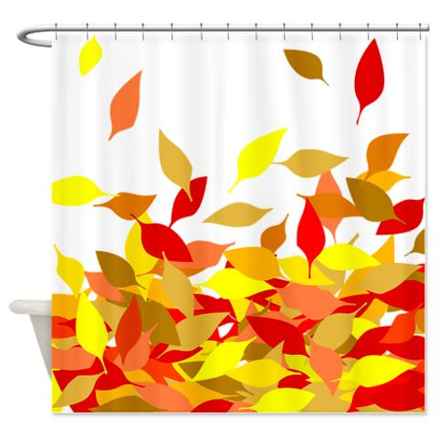 Autumn Leaves 3 Shower Curtain