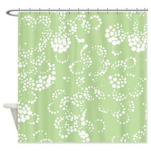 batik_2b_green_shower_curtain.jpg
