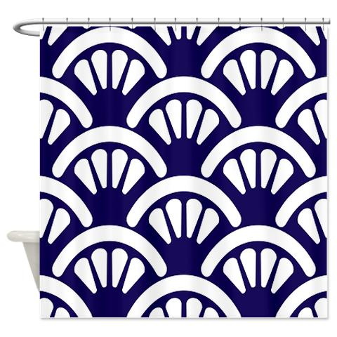 batik_2d_blue_shower_curtain.jpg
