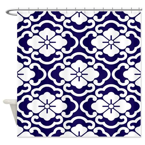 batik_2e_blue_shower_curtain.jpg