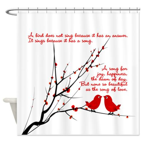 Bird\'s Song Of Love 1 Shower Curtain | KawelaMolokai.com