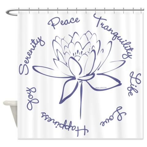 Lotus Blue Shower Curtain
