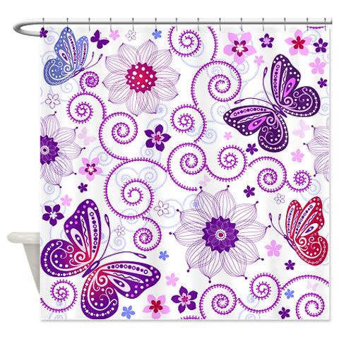 Curtains Ideas butterfly shower curtain : Butterfly Pattern 1 Shower Curtain | KawelaMolokai.com