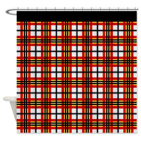 Country Plaid 01 Shower Curtain