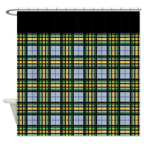 Country Plaid 03 Shower Curtain Curtain1