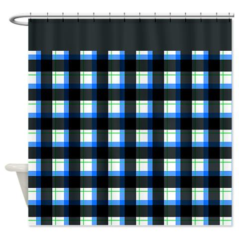 plaid 11 shower curtain