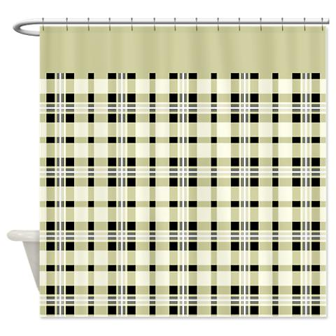 plaid 15 shower curtain