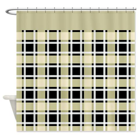 plaid 16 shower curtain