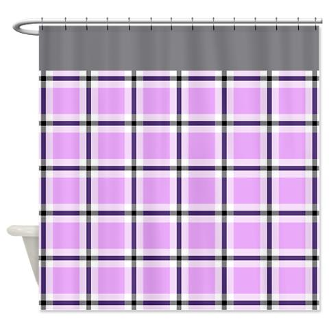 plaid 17 shower curtain