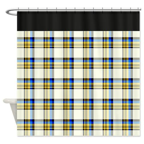 plaid 24 shower curtain