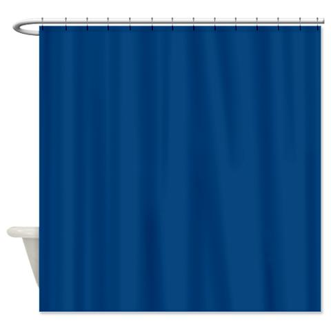 Dark Cerulean Blue Shower Curtain