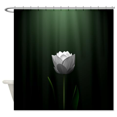 dark_green_lotus_blossom_shower_curtain.jpg