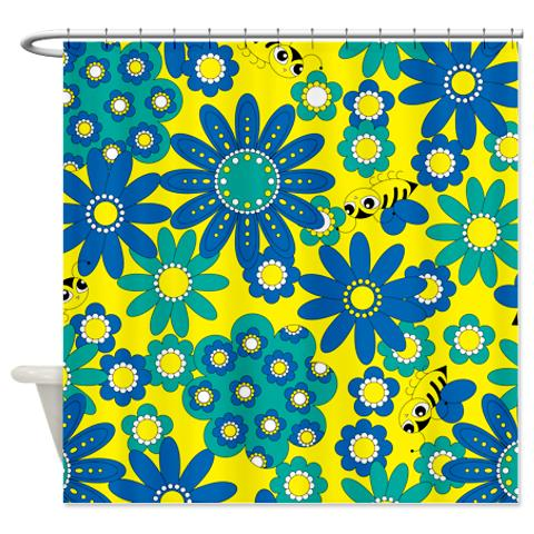 flowers_bees_shower_curtain.jpg