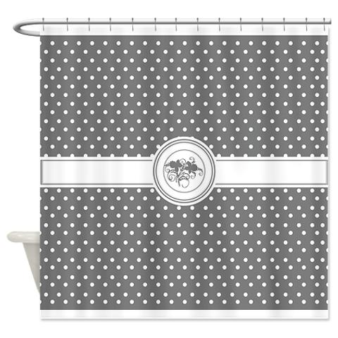 graphite_gray_floral_polka_dot_shower_curtain.jpg