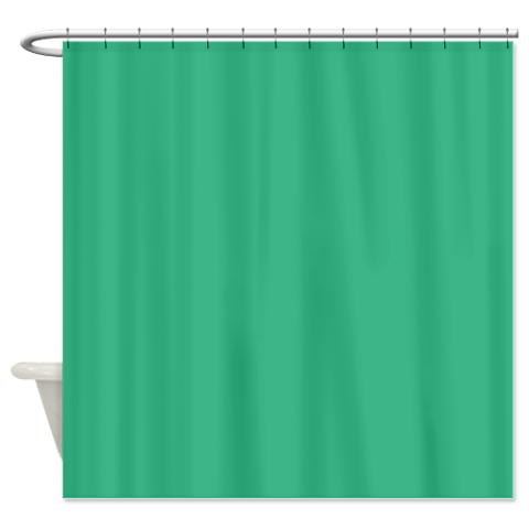mint leaf green shower curtain
