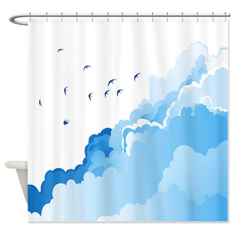 Clouds Shower Curtain Soaring Above The