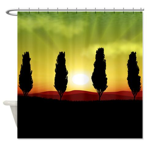 sunset_guardian_trees_landscape_shower_curtain.jpg