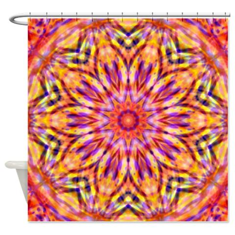 Tie Dyed 6 Shower Curtain Tiedyed