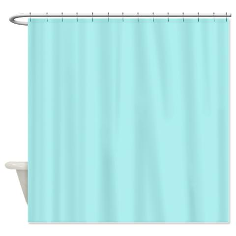 Turquoise Light Shower Curtain