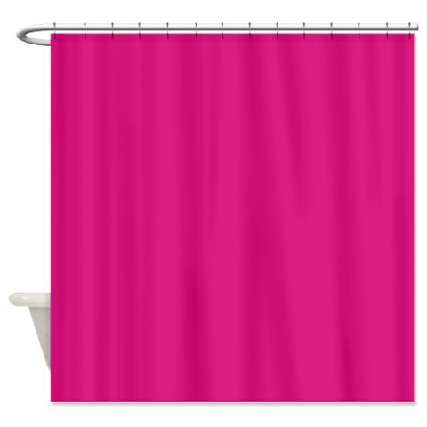 vivid_cerise_pink_shower_curtain.jpg