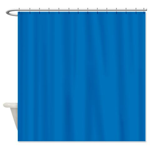 French Blue Shower Curtain Jpg